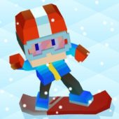 Blocky Snowboarding взлом на деньги