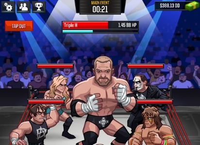 WWE Tap Mania андроид мод