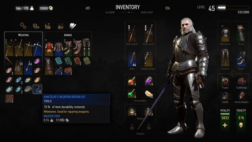 ведьмак 3 деньги и оружие