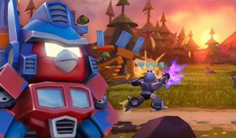 взломанный Angry Birds Transformers