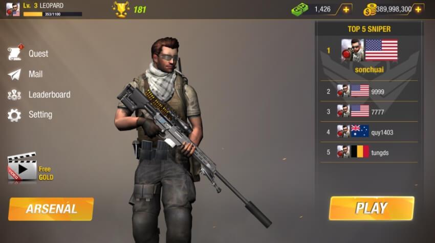 Bullet Strike: Sniper Battlegrounds деньги