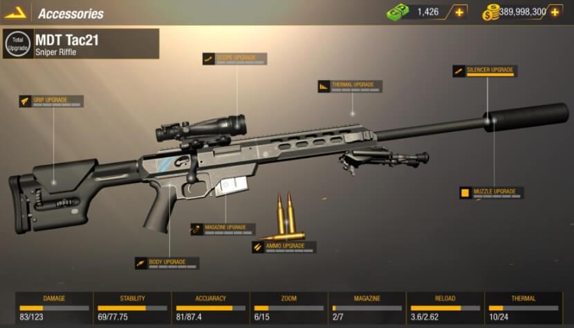 Bullet Strike: Sniper Battlegrounds мод