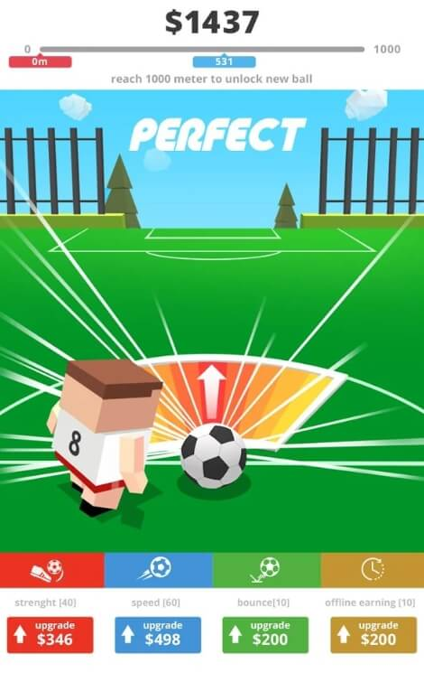 мод Mr. Kicker - Perfect Kick Football Game