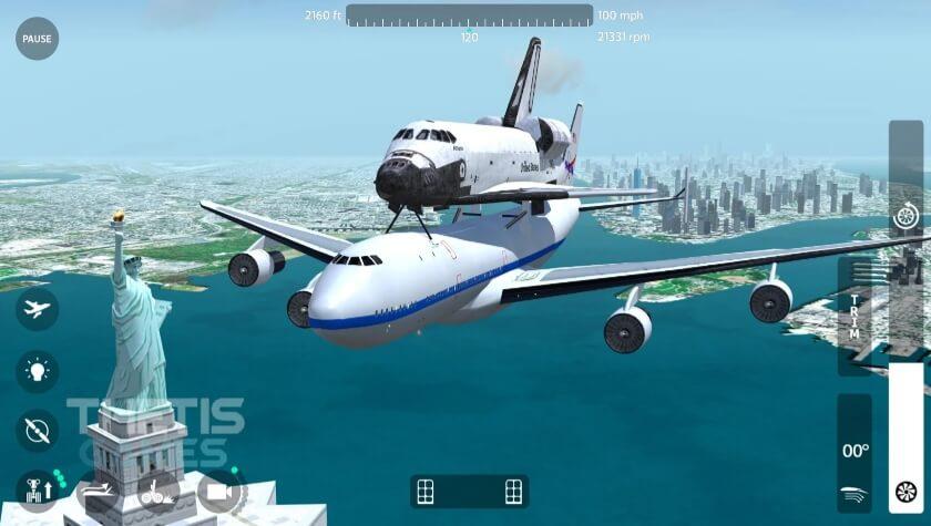 Flight Simulator 2018 FlyWings Free мод