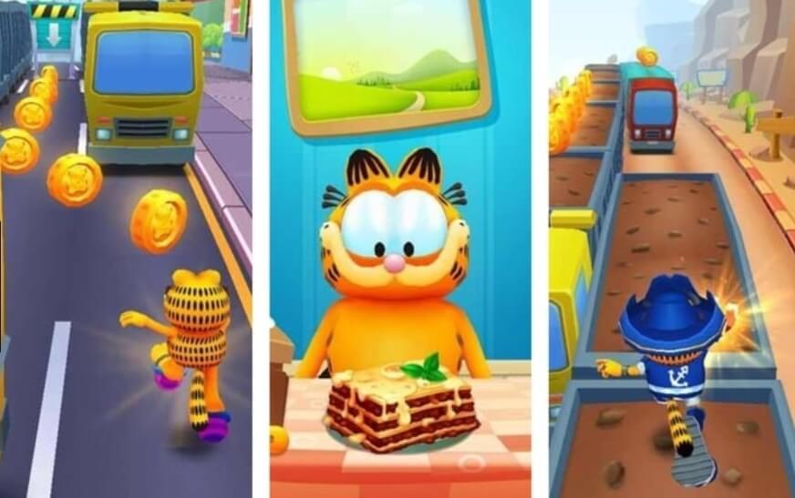 Garfield Rush мод