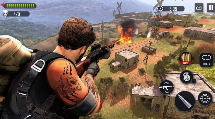 Battleground Fire : Free Shooting взлом