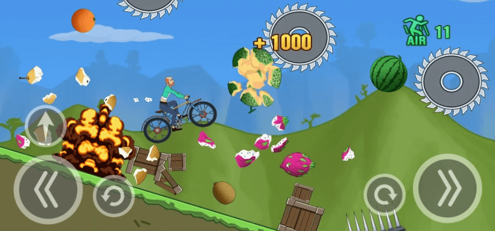 Hill Dismount - Smash the Fruits взлом