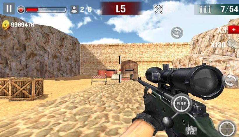 Sniper Shoot Fire War читы
