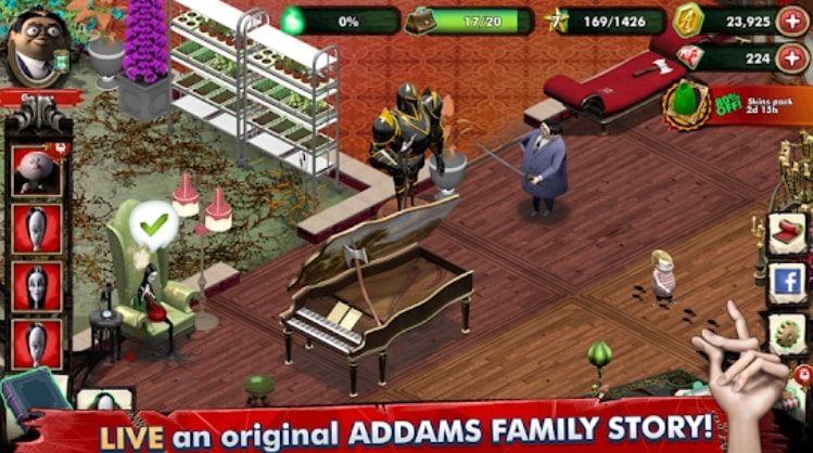 The Addams Family - Mystery Mansion коды