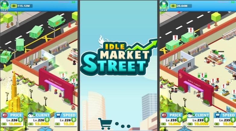 Idle Market Street коды
